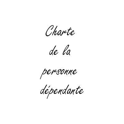 Charte de la personne dependante